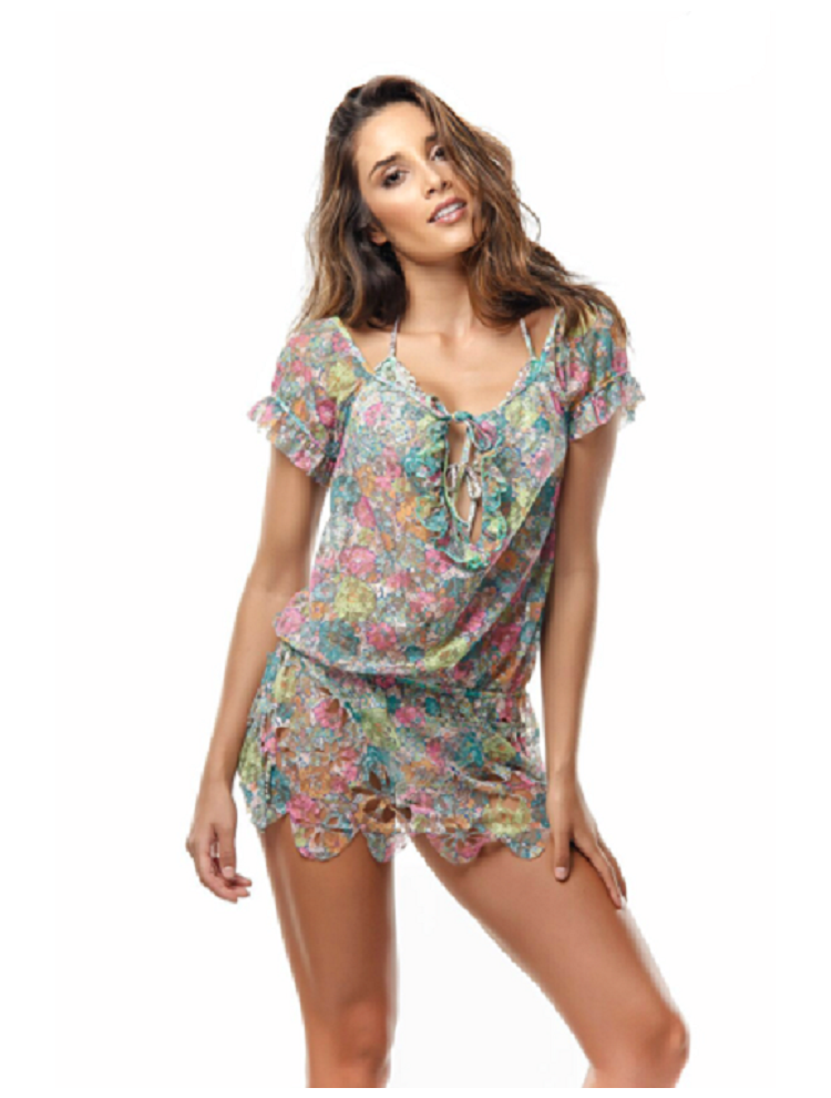 Floral Cover-up by Paradizia Swimwear