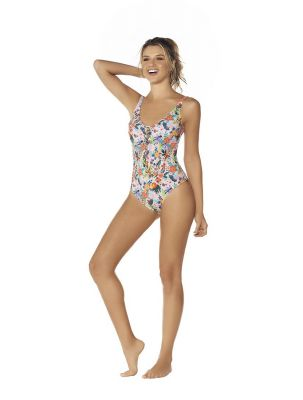 French Bouquet Tummy Control Swimsuit
